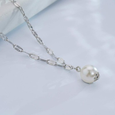 Evazen Layering Star Moon Anklet Chain Silver Pearl Ankle Bracelet for