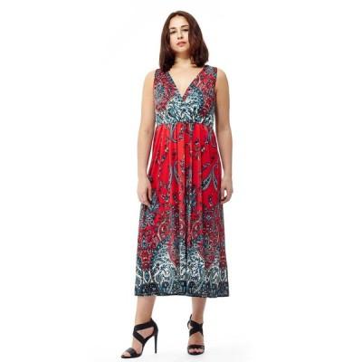 ラセラ ドレス La Cera Women's Sleeveless Printed Long Dress