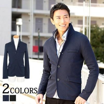 テーラードジャケット メンズ イタリアンカラー カルゼ織り おしゃれ 30代 40代 50代