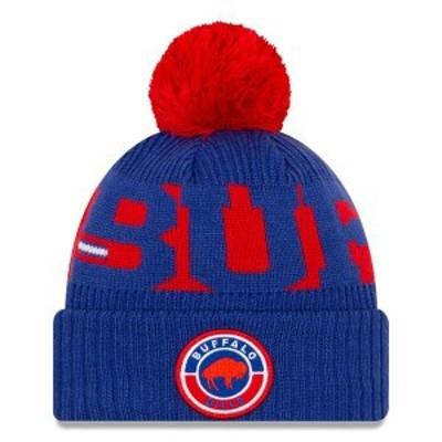 ニューエラ メンズ 帽子 アクセサリー Buffalo Bills New Era 2020 NFL Sideline Historic Logo Sport Pom Cuffed Knit Hat Royal/Red
