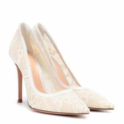 ジャンヴィト ロッシ Gianvito Rossi レディース パンプス シューズ・靴 Liliane lace pumps White