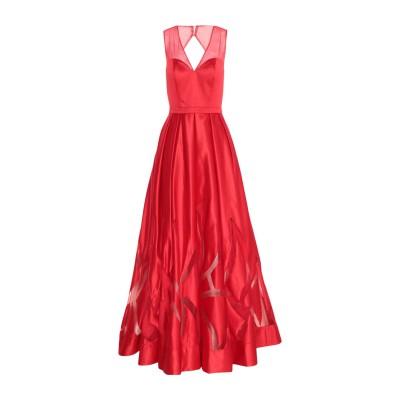 MIKAEL ロングワンピース&ドレス レッド 8 ポリエステル 100% ロングワンピース&ドレス