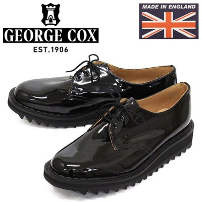 sale セール GEORGE COX (ジョージコックス) 15364 GIBSON PAT SHARK SOLE ギブソン パテント シャークソール 09-BLACKENAMEL