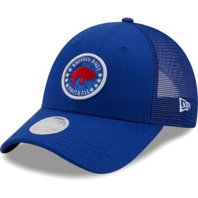 ニューエラ レディース 帽子 アクセサリー New Era Women's Buffalo Bills Royal Sparkle Adjustable Trucker Hat