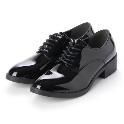シュナシュナ Shuna Shuna ベーシック革靴ローファー (エナメルブラック)