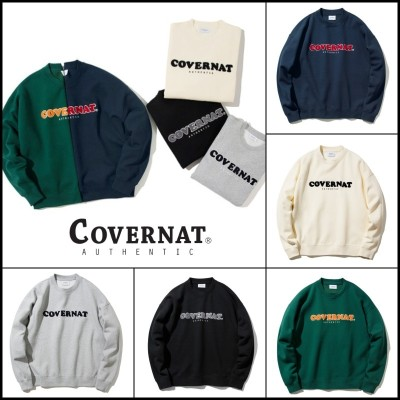 COVERNAT トレーナー 送料無料 ⚡韓国ファッション COVERNAT⚡ Bookle Cooper logo crew neck