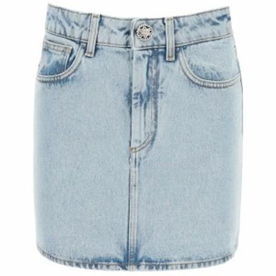 ALESSANDRA RICH/アレッサンドラ リッチ Light blue Alessandra rich denim mini skirt レディース 春夏2021 FAB2447 F3043 ik