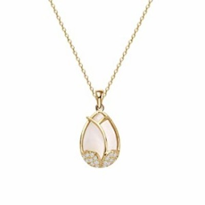 CYTING Elegant Tulip Flower Pendant Gold Plated Chain Necklace Gardening Jewelry for Women Girls (Tulip Flower Necklace)