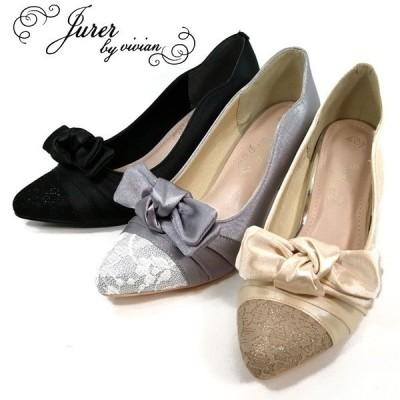 ジュレ オケージョン パンプス 靴 レディース 3507-100-500-800