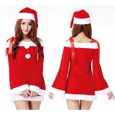 クリスマス衣装 サンタクロース 変装 仮装 コスプレ クリスマス サンタコス コスチューム 可愛い パーティー サンタコスプレ レディース