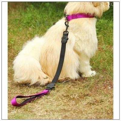 犬用 リード 中型犬 大型犬 小型犬 ドッグ ペット用品 フック 伸縮性 伸びる 肉球付き 足跡付き 短い 弾力 首輪なし 明るいカラー お散歩 お出