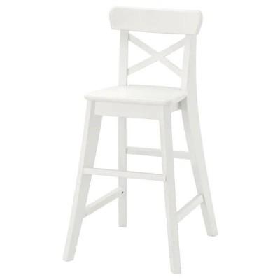 【IKEA】INGOLF/インゴルフ 子ども用チェア ホワイト