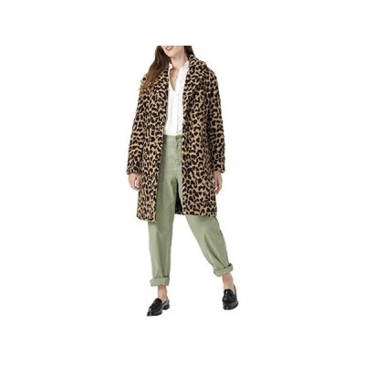 J.Crew Leopard Ariana Sherpa Topcoat レディース コート アウター Tan Brown
