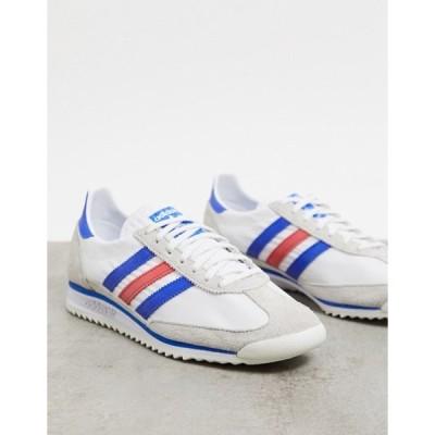 アディダス レディース スニーカー シューズ adidas Originals SL 72 sneakers in vintage white