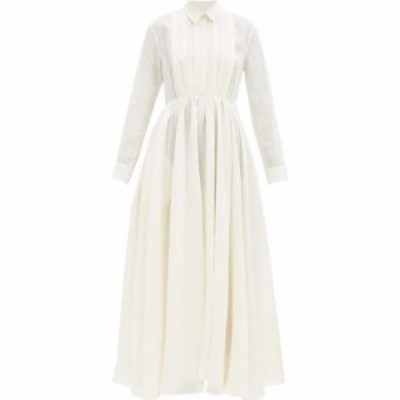 ジル サンダー Jil Sander レディース ワンピース シャツワンピース ワンピース・ドレス Nouvelle papier-gauze shirt dress Cream