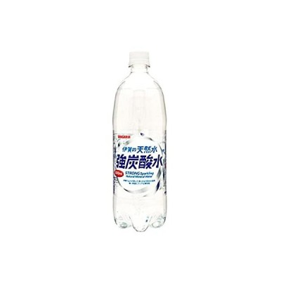 サンガリア 伊賀の天然水 強炭酸水 1Lペットボトル×12本入