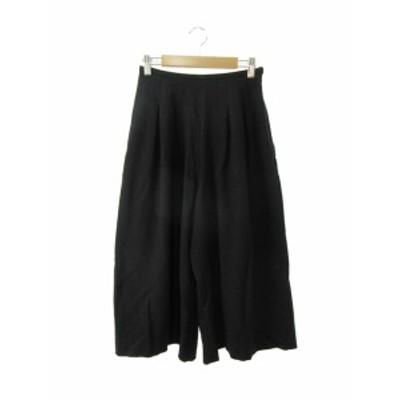 【中古】ミニマム MINIMUM パンツ ガウチョ ワイド S 黒 ブラック /YS9 レディース