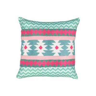 WAVERLY Spree Always On Point アステカ刺繍装飾枕 ソファ カウチ 寝室 リビングルーム 16インチ x 16インチ マル
