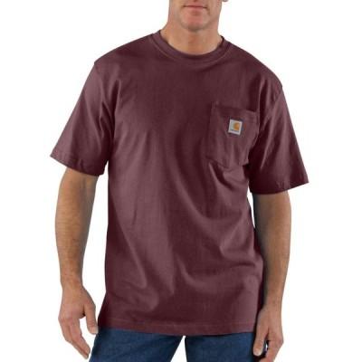 カーハート メンズ レディース 半袖 ポケットTシャツ ポート マルーン ポケT CARHARTT POCKET T-SHIRT PORT