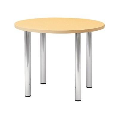 プラス   会議テーブル LM 丸脚・4本脚タイプ 丸形 LM-90PC ホワイトメープル 603740