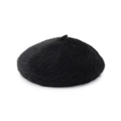 SHOO・LA・RUE/シューラルー ウール混シャギ-ベレ-帽 ブラック(019) 00