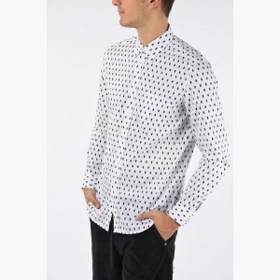 DIESEL/ディーゼル コットンシャツ White メンズ 秋冬2019 Printed S-VEN-SKULL Shirt dk