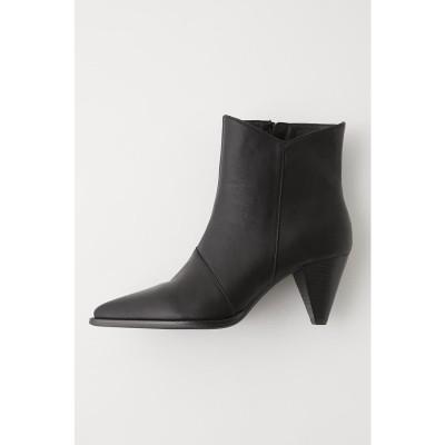 マウジー moussy CONE HEEL SHORT BOOTS (ブラック)