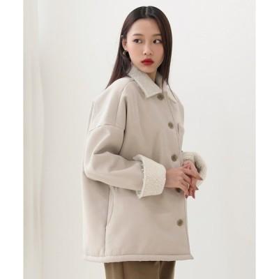 ジャケット テーラードジャケット 可愛いオーバーフィットのムスタンジャケット