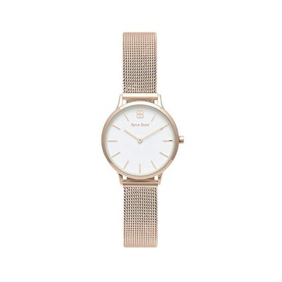 Byron Bond Mark 5 - Luxury 32mm Wrist Watches for Women (Dean - Rose Gold Case with White Dial and Rose Gold Stainless Steel Strap) 並行輸入品