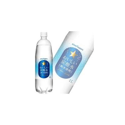 ポッカサッポロ おいしい炭酸水 PET 1L×12本入 1000ml /飲料