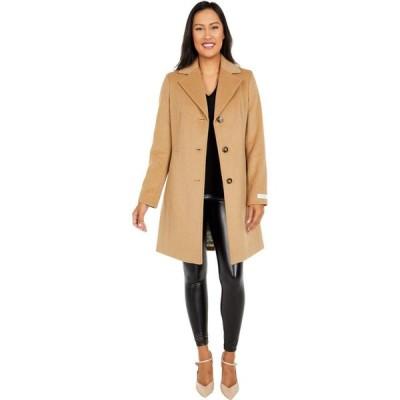 カルバンクライン Calvin Klein レディース コート アウター Classic Single Breasted Wool Coat Camel