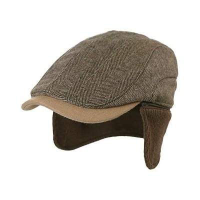 (シッギ)Siggi 耳あて付きキャップ 冬用防寒ハンチング帽子 男女兼用 おしゃれ 大きいサイズ (89111-コーヒー L)