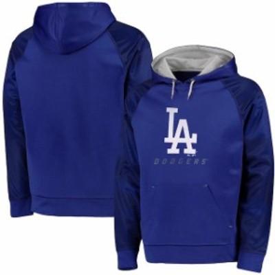 Majestic マジェスティック スポーツ用品  Majestic Los Angeles Dodgers Royal Big & Tall New Armour Performance Hoodi