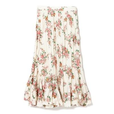 スカート BEAMS BOY / ボーイ フラワープリント スカート