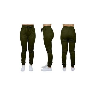 ギャラクシーバイハルビック カジュアルパンツ ボトムス レディース Women's Basic Stretch Twill Joggers Olive