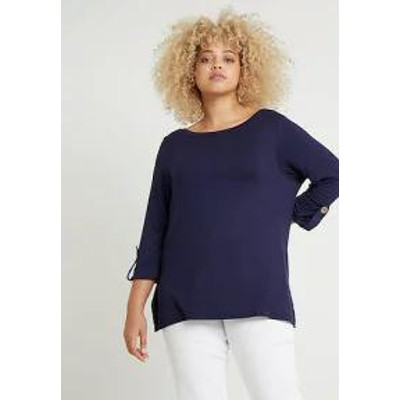 Dorothy Perkins Curve レディースその他 Dorothy Perkins Curve Long sleeved top - navy