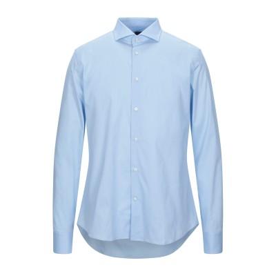 ALESSANDRO BONI シャツ スカイブルー 38 コットン 97% / ポリウレタン 3% シャツ