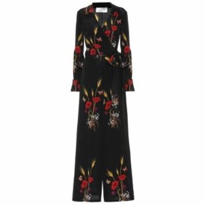 ヴァレンティノ Valentino レディース オールインワン ジャンプスーツ ワンピース・ドレス Floral-printed silk jumpsuit