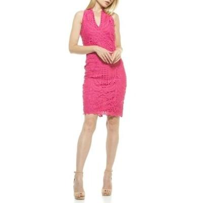 アレクシアアドマー レディース ワンピース トップス Karyn Crochet Lace Sheath Dress PINK