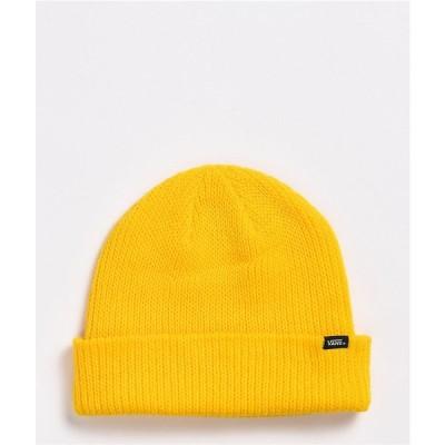 ヴァンズ VANS レディース ニット ビーニー 帽子 Vans Core Basic Lemon Chrome Beanie Yellow