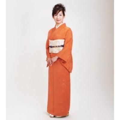 【色無地 レンタル 袷】〔10月~5月向き〕オレンジ色 お茶会 入学式 卒業式【往復送料無料】NT-21