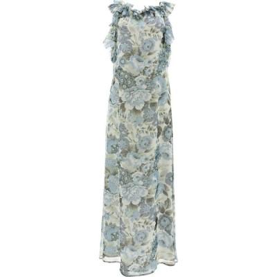 パロッシュ P.A.R.O.S.H. レディース ワンピース ワンピース・ドレス Dress With Floral Print Light Blue