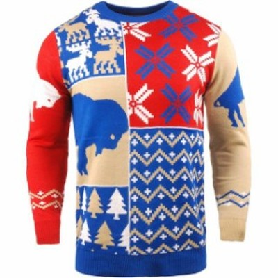 Forever Collectibles フォーエバー コレクティブル スポーツ用品  Buffalo Bills Royal Retro Patch Sweater