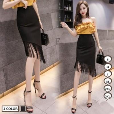 ハイウエストタイトスカート タイトスカート 通勤スカート スカート ミディアム タッセル エレガント 上品 ファッション
