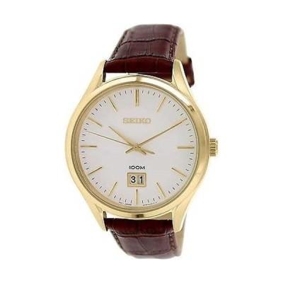 腕時計 セイコー Seiko メンズ SUR026 ブラウン レザー クォーツ 腕時計