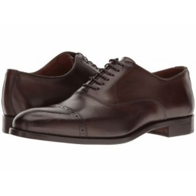 Massimo Matteo マッシオマッテオ メンズ 男性用 シューズ 靴 オックスフォード 紳士靴 通勤靴 6-Eye Bal Cap Toe Brown【送料無料】