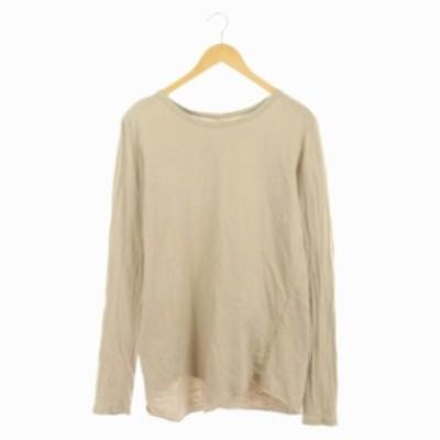 【中古】ドゥーズィエムクラス DEUXIEME CLASSE 19AW Layering Tシャツ ロンT カットソー 長袖 製品染め ベージュ