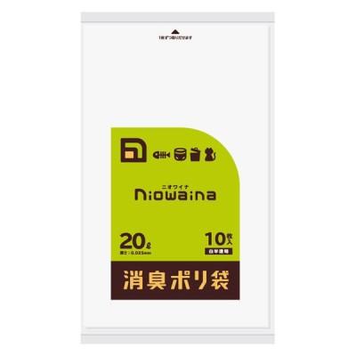 日本サニパックニオワイナ ゴミ袋 消臭袋 20L 1パック(10枚入) 日本サニパック