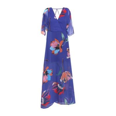 MARCIANO ロングワンピース&ドレス ブルー 38 ポリエステル 100% ロングワンピース&ドレス