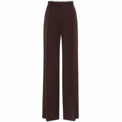 ボッテガ ヴェネタ Bottega Veneta レディース ボトムス・パンツ High-rise wide-leg wool pants Coffee